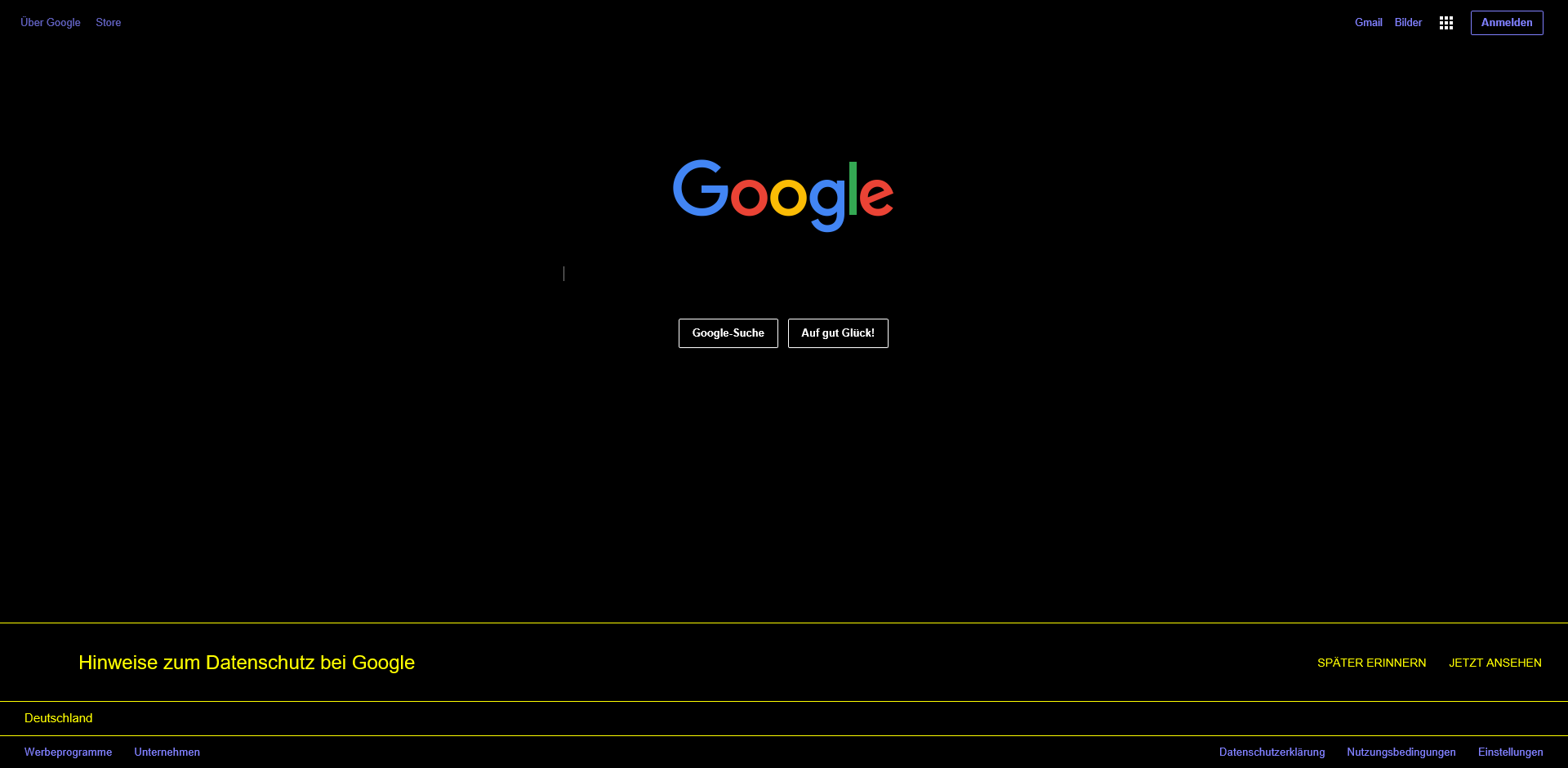 Google Search in Windows High Contrast Mode